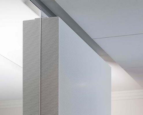 APM Projekt - Akustikdecke, Metallabsorber, Glassystem